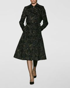 Trenchcoat Botanical black